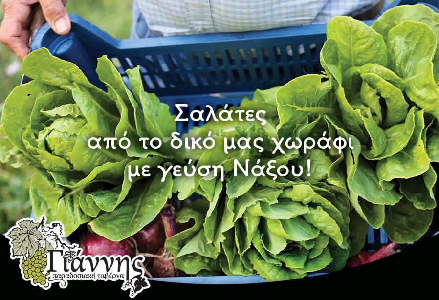 Ταβέρνα Γιάννης - Σαλάτες από το δικό μας χωράφι με γεύση Νάξου!